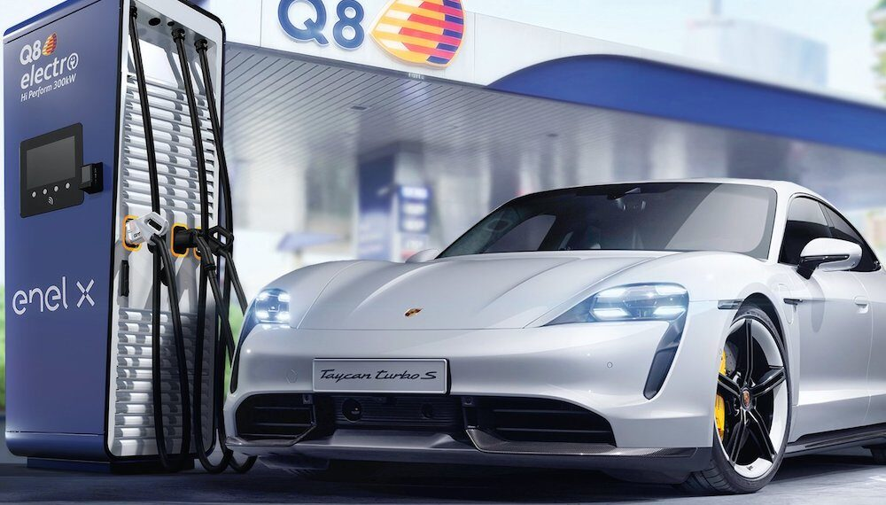 Porsche Italia, Q8 ed Enel X: tre nomi per favorire la green mobility