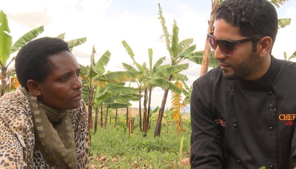 Ruanda: banane con piselli e fagioli (chef  Ali L'Artiste)